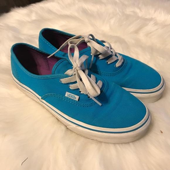 Vans Shoes | Bright Blue Vans | Poshmark